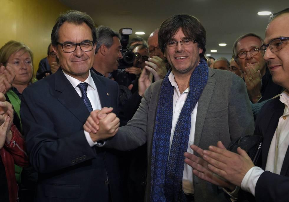 Mas y Puigdemont, este sábado.