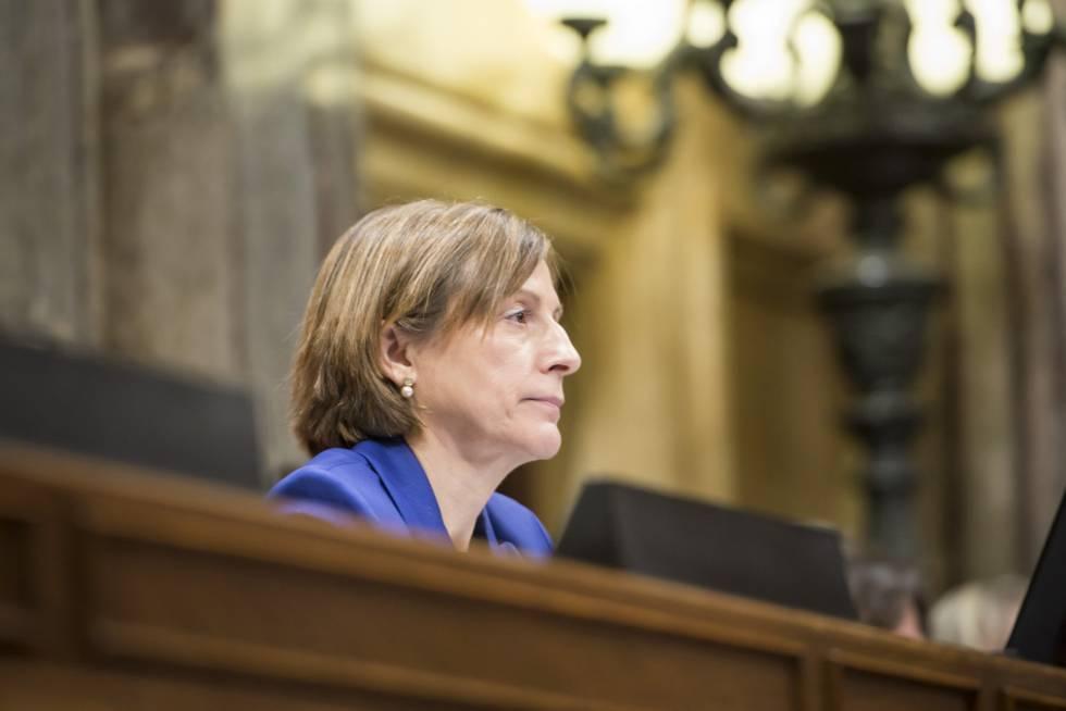 La presidenta del Parlament , Carme Forca dell.