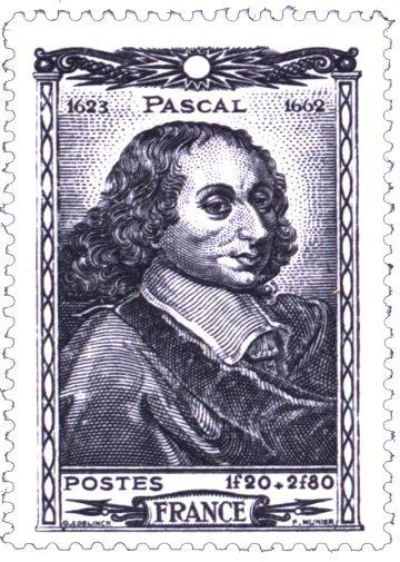 Segell de correus de França dedicat a la figura de Pascal.