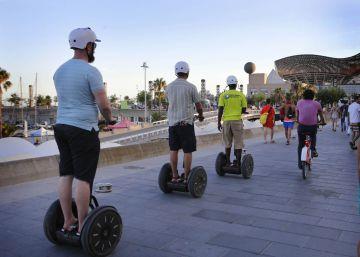 Barcelona prohíbe la circulación de 'segways' en el frente marítimo