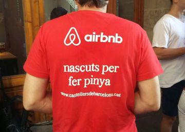 Los Castellers de Barcelona retiran la publicidad de Airbnb