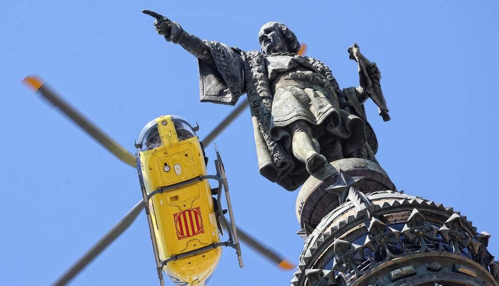 El monumento a Colón en una imagen de archivo.