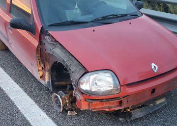 Detenida una kamikaze que conducía ebria y sin rueda delantera en Girona