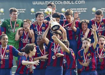 La felicitat dels nens del Barça
