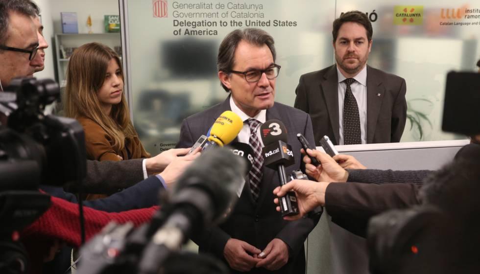 Artur Mas en la Oficina de la Generalitat en Nueva York, en 2015.
