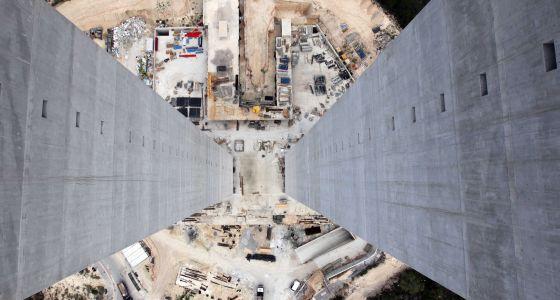 Construcción de las torres residenciales más altas de España, en Benidorm.