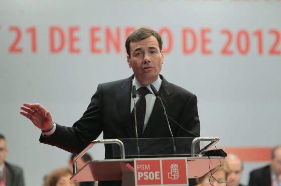 Tomás Gómez, en una intervención en el Congreso Extraordinario del PSM.