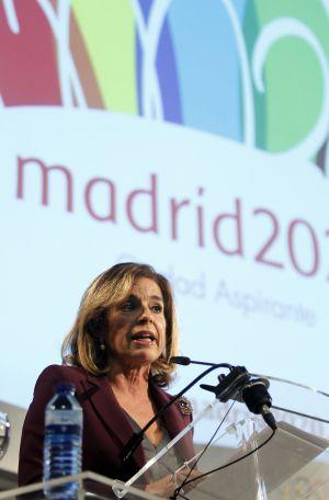 Ana Botella, en la presentación del logotipo de Madrid 2020.