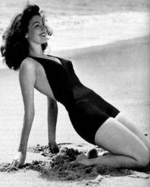 Ava Gardner, en una playa de Torremolinos en 1955.