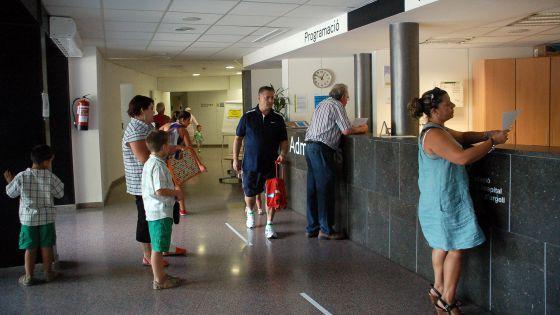 Recepción del Hospital de La Seu d'Urgell.