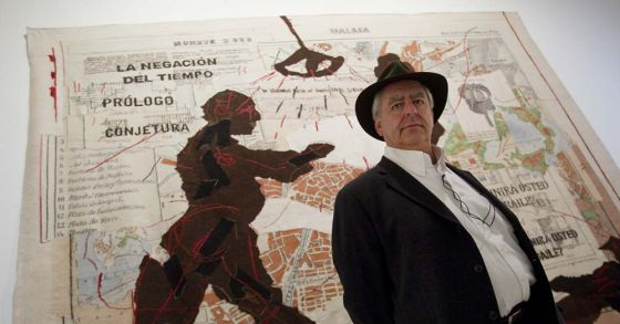 William Kentridge, ayer en el Centro de Arte Contemporáneo de Málaga.