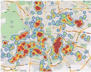 Zonas de Madrid con mayor concentración de pisos de menos de 100.000 euros.