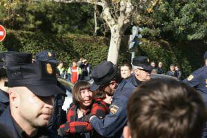 Carga policial del miércoles
