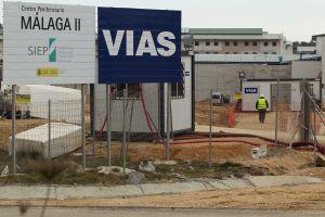 Obras del nuevo centro penitenciario de Archidona (Málaga)