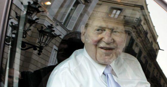 Sheldon Adelson, tras su visita a la Generalitat donde se ha entrevistado con Artur Mas.