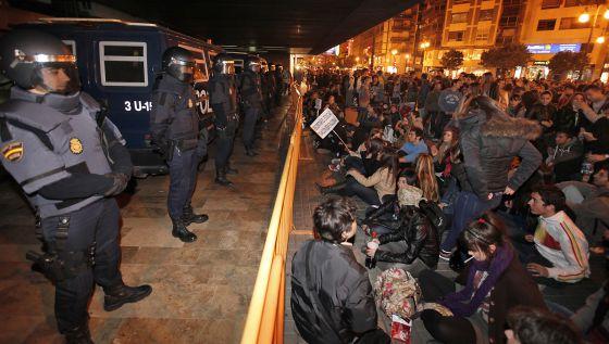 Concentración frente a la delegación de Gobierno en Valencia