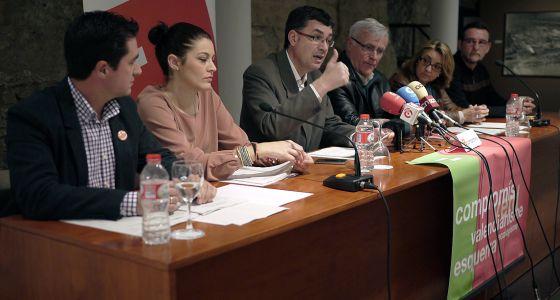Paco Garcia, Mireia Mollà, Enric Morera, Joan Ribó, Consol Castillo y Juan Ponce.