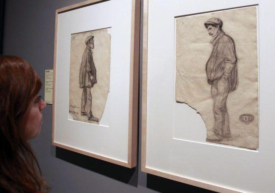 """""""Hombre con las manos en los bolsillos"""", obra que se puede ver en la exposición que inaugura el Museo Picasso de Barcelona."""