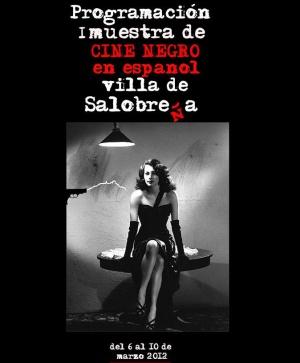 Cartel de la I Muestra de cine negro en español villa de Salobreña.