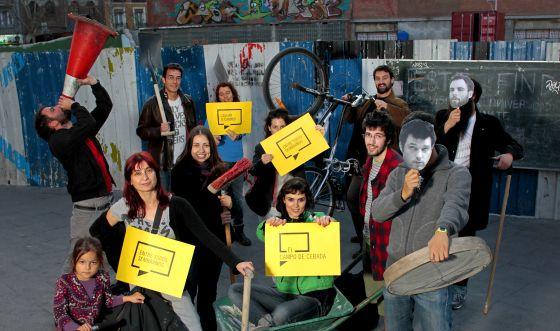 Participantes de diversos proyectos de urbanismo colectivo en Madrid.