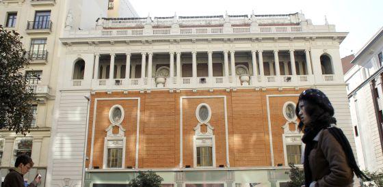 El Palacio de la Música, en febrero pasado, con la fachada ya terminada.