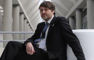 Luc Bas, el pasado jueves en el Palacio de Congresos Europa de Vitoria.