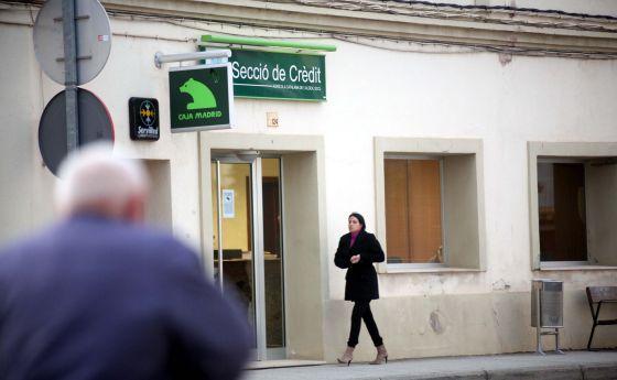 Oficina de la sección de crédito de la cooperativa de La Aldea.