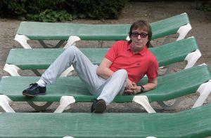 Bill Wyman, ex- bajista de los Rolling Stones, posa en Madrid en 2003