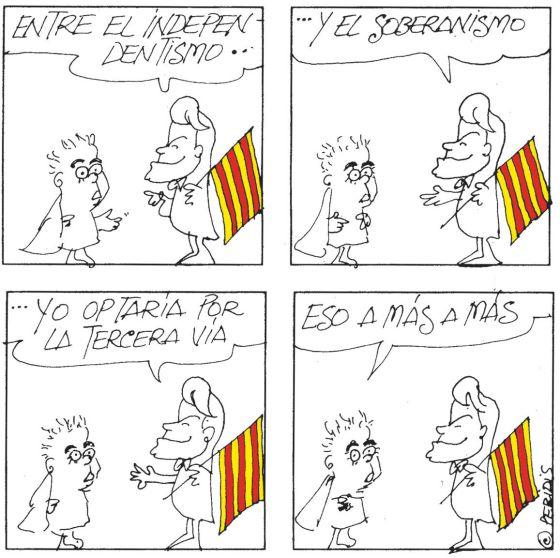 Mas asume como objetivo político la independencia de Cataluña