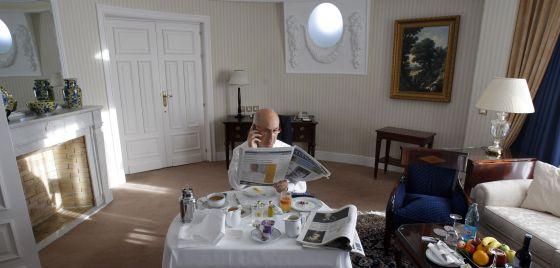 Duran en la 'suite' de su hotel en Madrid