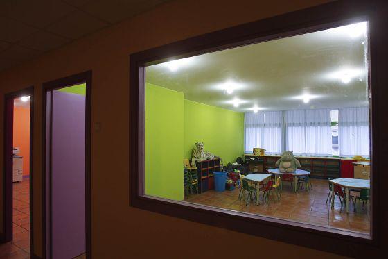Una de las aulas de la guardería La Granota en el Eixample barcelonés.