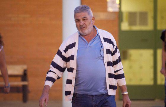 Laureano Oubiña, en una de sus salidas de la cárcel, en septiembre pasado.