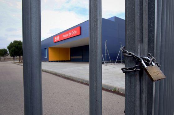 Estación ferroviaria cerrada.