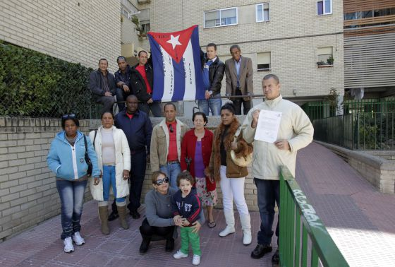 El grupo de disidentes cubanos de Móstoles.