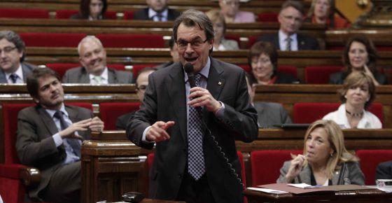 Artus Mas interviene en la sesión del control del Parlament.