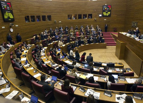 El pleno de las Cortes del 9 de marzo de 2011.