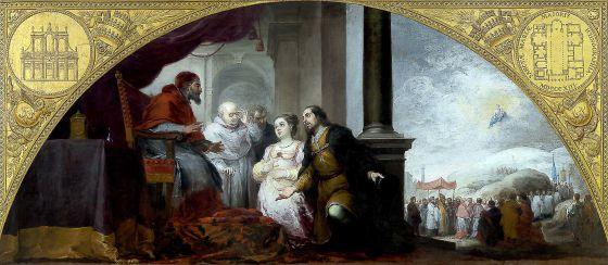 'El patricio revelando su sueño al papa Liberio', de Murillo.