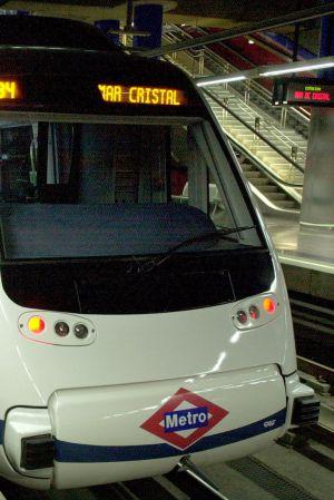 Un convoy del metro de Madrid.