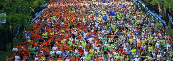 Participantes en la edición del maratón del año pasado.