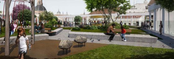 El futuro jardín aéreo de La Cebada.