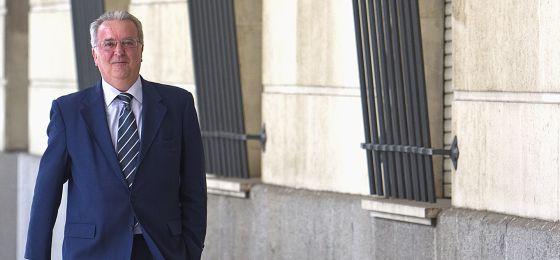 Antonio Fernández, al entrar en los juzgados de Sevilla.