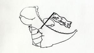 Carlos Ruiz Zafón acompaña sus dedicatorias con un dragoncito que estampa con un tampón en los libros