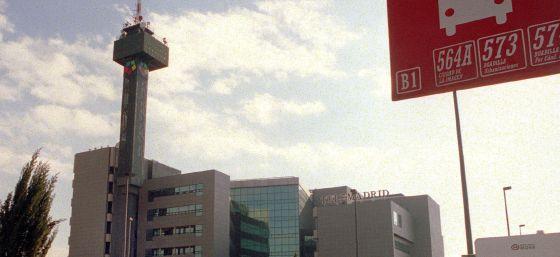 El edificio de Telemadrid en la Ciudad de la Imagen.