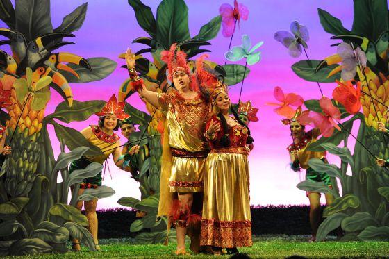 Imagen de la zarzuela producida por el Teatro Arriaga, 'El dúo de la Africana'