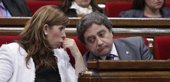 Enric Millo, junto a Alicia Sánchez-Camacho.