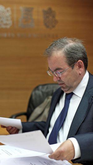 Luis Rosado, consejero de Sanidad, en las Cortes.