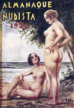 Portada de l'Almanaque nudista (1933).