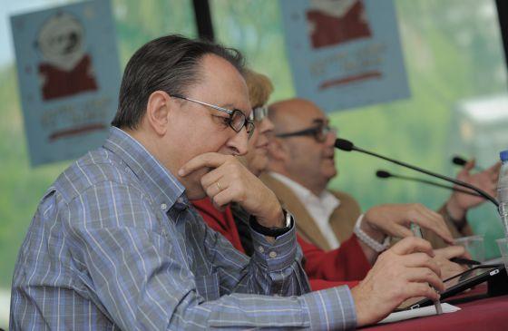 Lluís Bassets, Rosa María Artal, Emili Piera e Ignacio Escolar, en la Fira del Llibre de València.