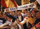 La fiesta del Real Madrid en Cibeles puede con la lluvia