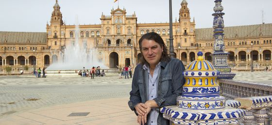 David Peña Dorantes, en la plaza de España, en Sevilla.